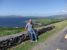 Mario at a scenic spot during the Ring of Kerry Tour , Mario S - October 2013