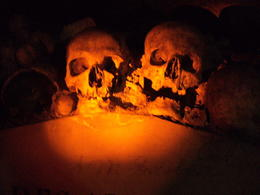 a couple of skulls inside the Catacombs! This is a MUST SEE!!! , James R - June 2013