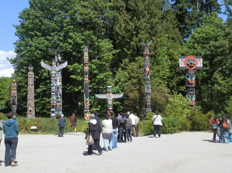 Totum poles in Stanley Park, Vanccouver BC - Vancouver
