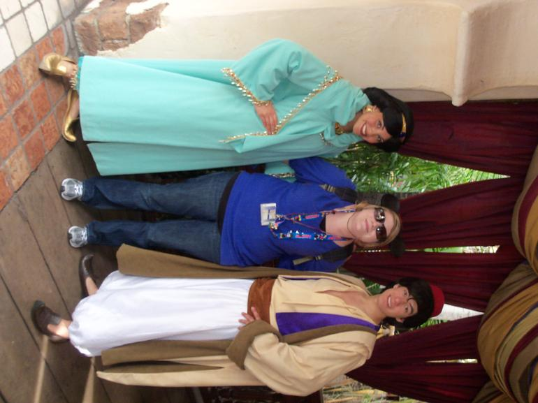 Aladdin and Jasmine in Disneyland - Los Angeles