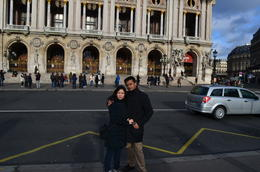 Self and wife in front of the Opera! , Joydeep Das - December 2012
