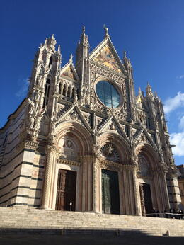 We learned about and went inside this church in Siena , Frances B - December 2014
