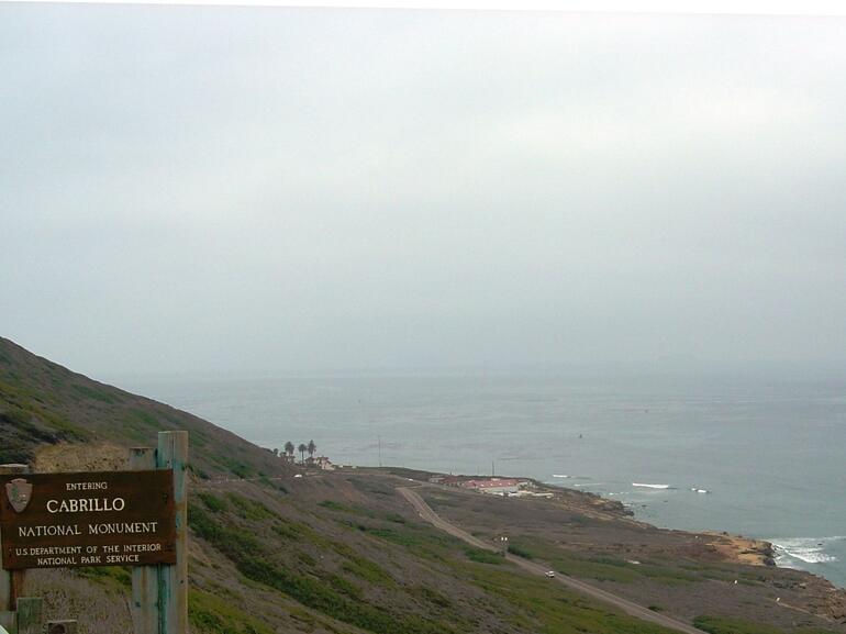Entering Cabrillo National Monument - San Diego