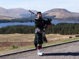 Bagpipe in Highlands , Monica G - June 2013