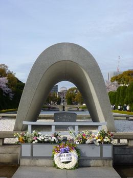 The Peace Cenotaph frames the Peace Flame, which frames the Peace Dome. , Sandra S - April 2016