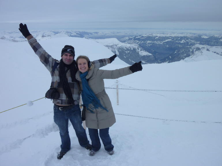 Made it to the top of Europe in Winter -