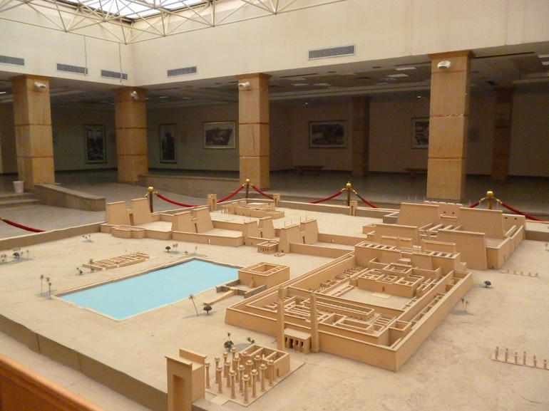 miniature of the temple complex - Luxor