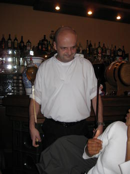 This guy was just too good! He was very attentive to our wine glasses and often times was refilling them prior to us sipping the last drop! , Crystal W - October 2014