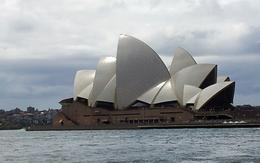 this is opera house where we walked around and enjoyed watching the small and big ship , connie - March 2014