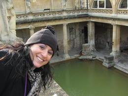 I am looking down at the Roman Baths in Bath. The entry fee is worth it! , Dewey B - March 2013