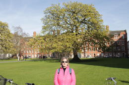 On the green at Trinity College , Steve - April 2017