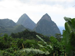 The Pitons in the distance , Kathryn A R - January 2012