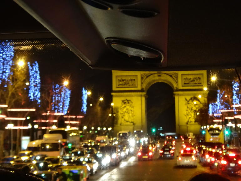 Arc de Triumph - terrible quality photos through the bus! - Paris