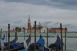 Boats on the water with St. Mark's church in the background, Venice, Italy. , Cherie B - August 2015