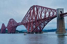 The Firth of Forth railroad bridge makes a classic view. This was the last stop on the trip. , Claude L - July 2012