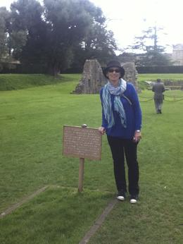 Here I am at the burial site of King Arthur and his queen , marianne k - May 2013