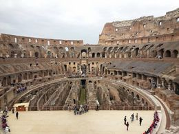 Inside of the Colosseum , Beth W - April 2016