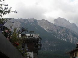 View of the dolomite from Cortina, lovely town. , Maria Antonia S - August 2015
