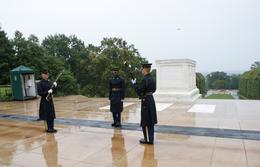 changing of the guard in Arlington Cemetery in front of the tomb of the unknown soldiers , NINA W - September 2012