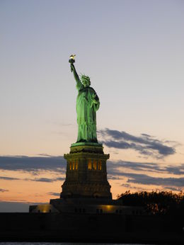 The Statue of Liberty at sunset , kptp - July 2016