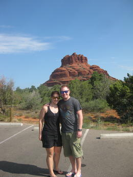 I believe this is Bell rock, a stop on the tour on our way to Grand Canyon National Park. , Joanna Z - August 2012
