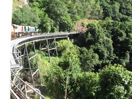 Kuranda Scenic Railway - at Stony Creek Falls , Ali_Hawk - June 2012