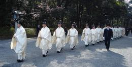 Priests on their way to the Meiji Shinto Shrine., Tyrone P - February 2008