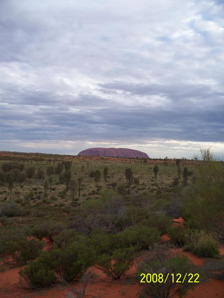 On the camel walk - Ayers Rock