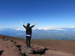 Me - Lisa on the top of the Haleakalā National Park. View of almost the whole island of Maui. , Lisa F - December 2015