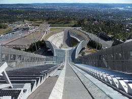 Holmenkollen Ski Jump/Ski Tower in Oslo's western hills: , sealover - October 2012