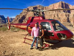 Ruben and James in front of our helicopter , Ruben V - January 2017