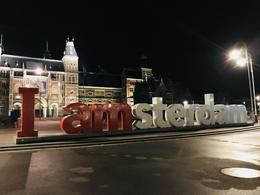 Rijksmuseum and I Amsterdam sign , Jeovany Z - January 2018