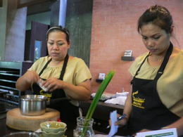 cooks teaching the class , Julianne D - August 2012