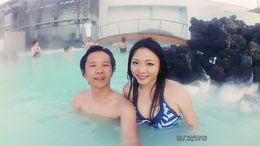 Enjoy the warm water. Relaxing. , Chan KW & SM San - March 2016