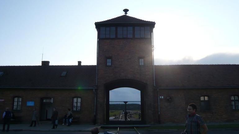 Entrance to Auschwitz II - Krakow