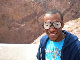 These were the glasses our guide gave us to put on as a disguise, Jasmine .T - April 2009
