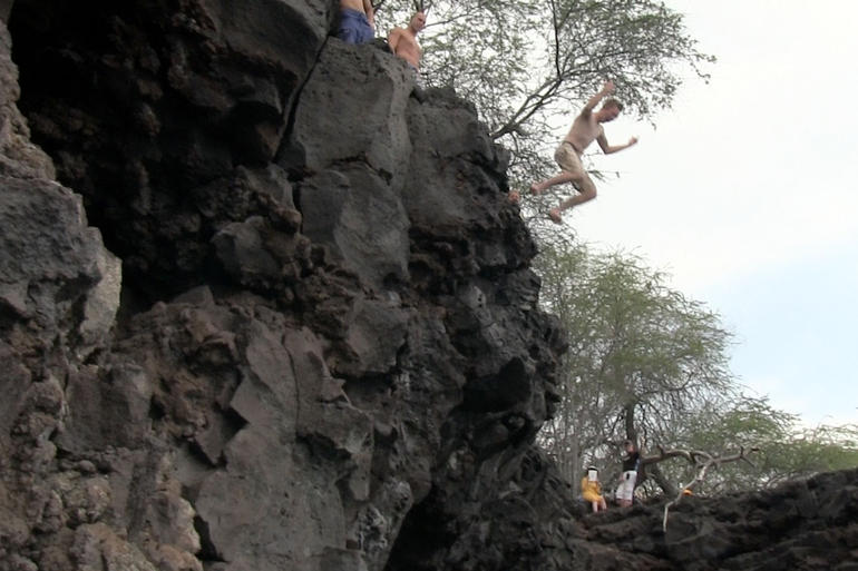 Jumping off the cliff - Big Island of Hawaii