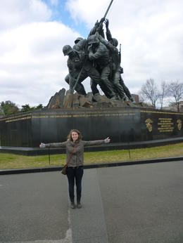 I'm so small compared to the size of this statue, Irene - November 2012