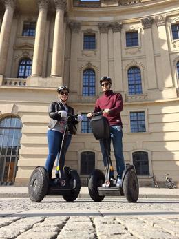 On the segway outside the Berlin State Library, photo taken by the lovely Toby (tour guide) , Liz J - March 2014
