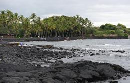 Panaluu black sand beach , reneecornaga - October 2013