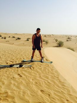 My boyfriend sandboarding! He loved it , April Gil B - July 2015