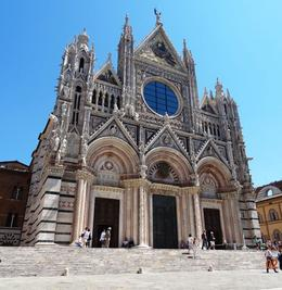 Beautiful cathedral in central Siena , MEL M - June 2014