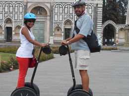 My wife and I going for a free spin around the park before heading off for a gelato on-wheels! , CLAUDE J P D - September 2015