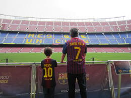 My husband and son at Camp Nou , Allison M - April 2013