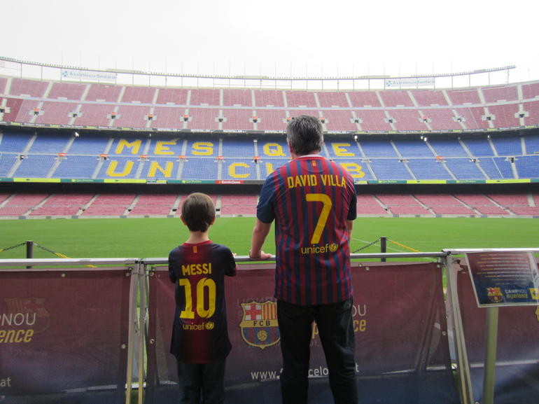 The men viewing the pitch - Barcelona