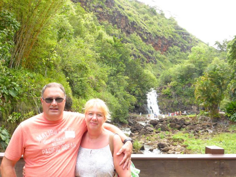 Waimea Falls in the Waimea Valley - Oahu