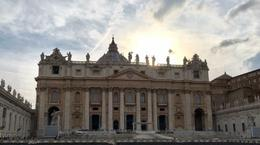 Outside St. Peter's as sunset was dropping over it. , debbie.cifone - June 2017