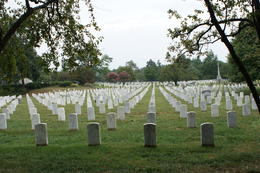 Arlington Cemetry, headstones of unknown soldiers , NINA W - September 2012