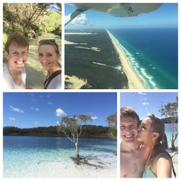 Top left is in Eli Creek, Top right is the scenic flight over the island Bottom left and right are both at Lake McKenzie , Andrew B - October 2015