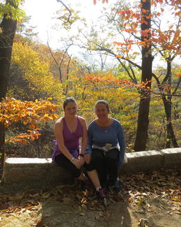 My daughter and I half way up Mr. Bukhan. The fall colors were spectacular. , Catharine B - December 2015